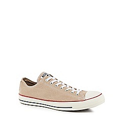 Converse - Taupe canvas 'Chuck Taylor All Star' trainers