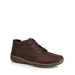 Skechers - Brown nubuck 'Harper Meldon' chukka boots