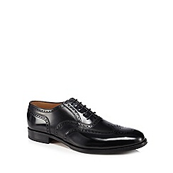 Loake - Black leather 'Lowick' brogues