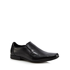 Clarks - Black leather 'Glement' slip on shoes