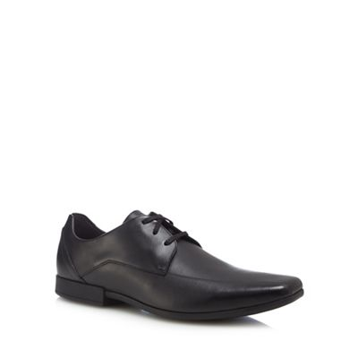 Clarks - Black leather 'Glement' Derby shoes