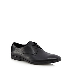 Clarks - Black leather 'Bampton Walk' Derby shoes