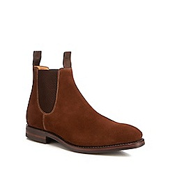Loake - Brown suede 'Chatsworth' Chelsea boots