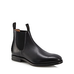 Loake - Black leather 'Chatsworth' Chelsea boots