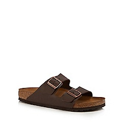 Birkenstock - Brown 'Arizona' double strap sandals