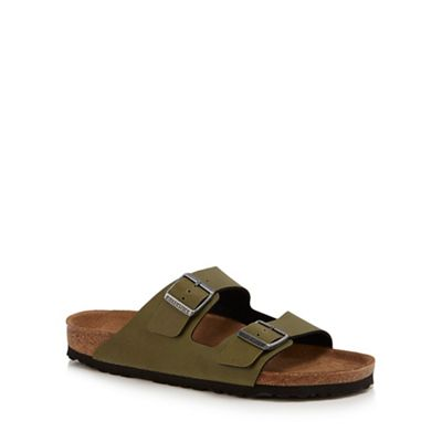 Birkenstock - Khaki 'Arizona' double strap sandals