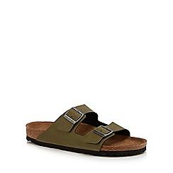 Birkenstock - Khaki 'Arizona' double strap sandals
