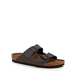 Birkenstock - Dark grey 'Arizona' double strap sandals