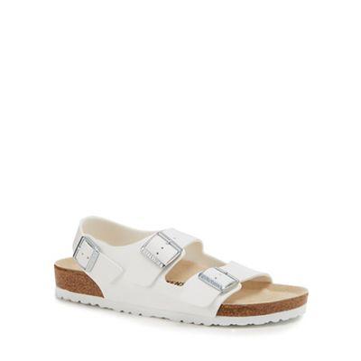 Birkenstock - White 'Milano' double strap sandals