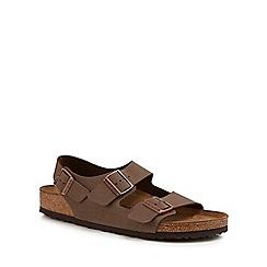 Birkenstock - Brown 'Milano' double strap sandals