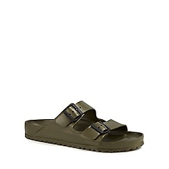 Birkenstock - Khaki 'Arizona Eva' double strap sandals