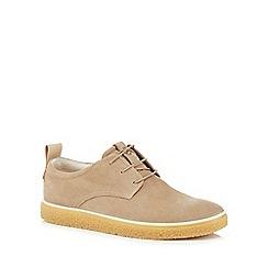 ECCO - Natural nubuck 'Crepetray' Derby shoes