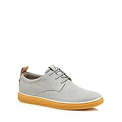 ECCO - Grey nubuck 'Crepetray' Derby shoes