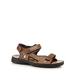 Hush Puppies - Brown leather 'Spectrum 2' sandals
