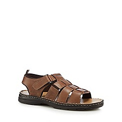 Hush Puppies - Brown leather 'Spectrum' sandals