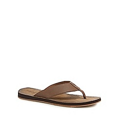Timberland - Brown leather 'Wild Dunes' flip flops