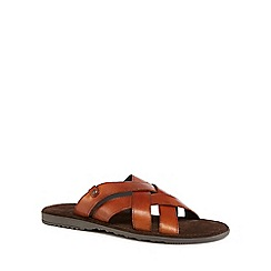 Base London - Tan leather 'Apollo' slip-on sandals