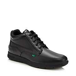 Kickers - Black leather 'Kelland' lace up boots