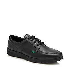 Kickers - Black leather 'Kelland' lace up shoes