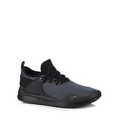 Puma - Black knitted 'Pacer Next' trainers
