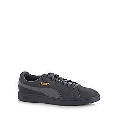 Puma - Grey leather 'Smash V2' trainers