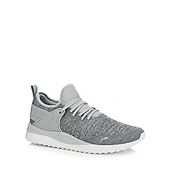 Puma - Light grey knitted 'Pacer Next' trainers
