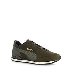 Puma - Khaki 'Runner V2' trainers