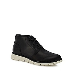 Caterpillar - Black leather 'Sidcup' chukka boots