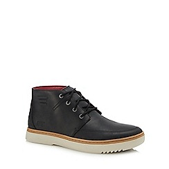 Caterpillar - Black leather 'Sixpoint' chukka boots