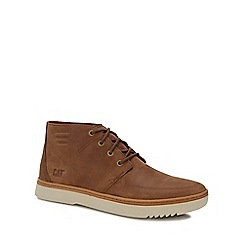 Caterpillar - Tan nubuck 'Sixpoint' chukka boots