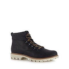 Caterpillar - Navy leather 'Crux' lace up boots