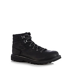 Caterpillar - Black leather 'Exigent' hiking boots