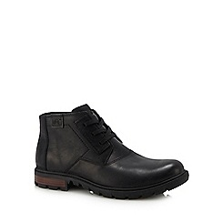 Caterpillar - Black leather 'Stats' lace up boots