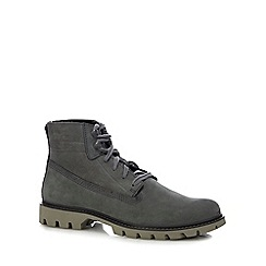 Caterpillar - Grey nubuck 'Basis' rope lace up boots