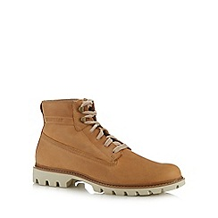Caterpillar - Tan leather 'Basis' rope lace up boots