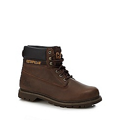 Caterpillar - Chocolate brown leather 'Colorado' boots