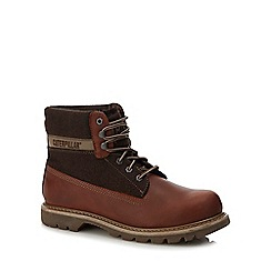 Caterpillar - Brown 'Colorado wool' boots