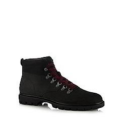 Caterpillar - Black nubuck 'Crux' lace up boots