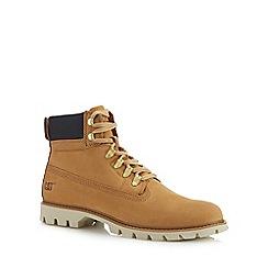 Caterpillar - Tan nubuck 'Lexicon' lace up boots