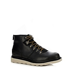 Caterpillar - Black leather 'Shaw' hiking boots