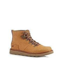 Caterpillar - Tan leather 'Shaw' hiking boots