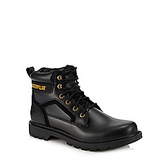 Caterpillar - Black leather 'Stick Shift' lace up boots