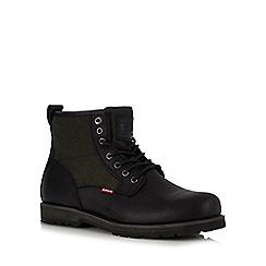 Levi's - Black leather 'Logan' boots