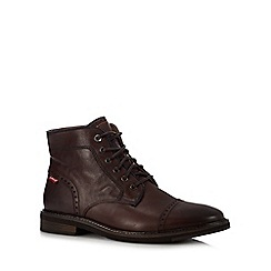 Levi's - Brown leather 'Wohlford' boots