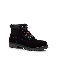 Levi's - Black leather 'Hodges' lace up boots