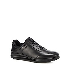 ECCO - Black leather 'Aquet' trainers