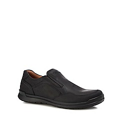 ECCO - Black leather 'Howell' slip-on shoes