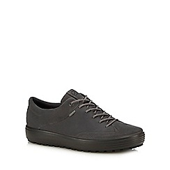 ECCO - Dark grey leather 'Soft 7' trainers