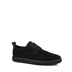 ECCO - Black nubuck 'Crepe tray' Derby shoes