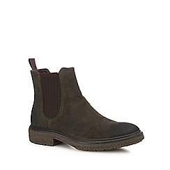 ECCO - Near black suede 'Crepe tray' Chelsea boots